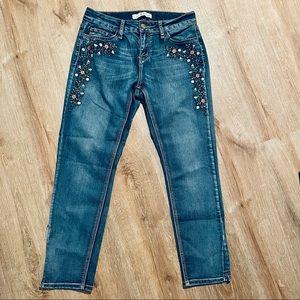 LOVE Indigo Embroidered Jeans